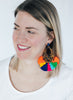 handmade designer womens tortoise and multicolor azza earrings katie bartels