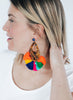 womens tortoise and multicolor azza earrings katie bartels