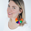 handmade womens tortoise and colorful tassel earrings katie bartels