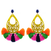 handmade designer womens yellow azza earrings katie bartels