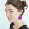 womens purple rima earrings katie bartels