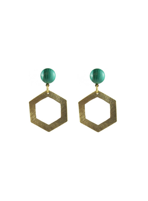 handmade designer womens gold bluma earrings katie bartels