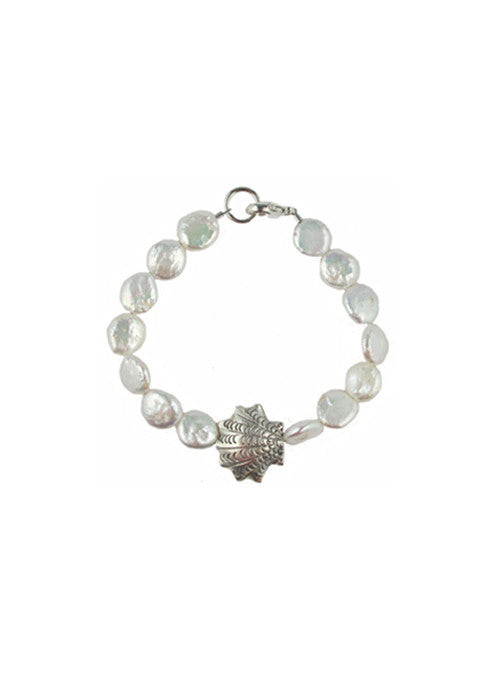 womens white pearl and silver chatham bracelet katie bartels