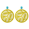 handmade designer womens yellow palm earrings katie bartels