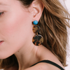 handmade womens tortoise circle earrings katie bartels
