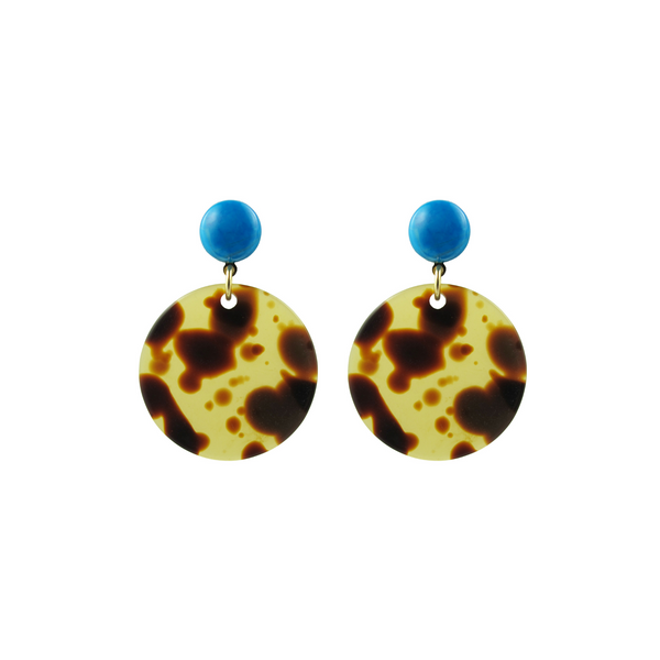 handmade designer womens tortoise circle earrings katie bartels