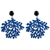 handmade designer womens blue coral earrings katie bartels