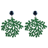 handmade womens green coral earrings katie bartels