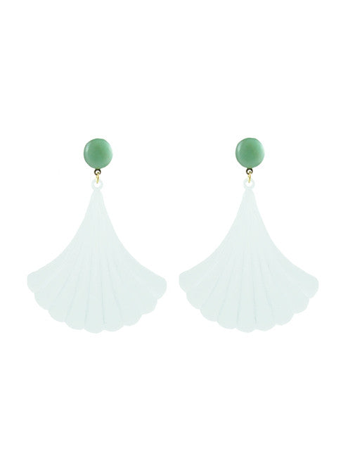 womens translucent white darcy earrings katie bartels