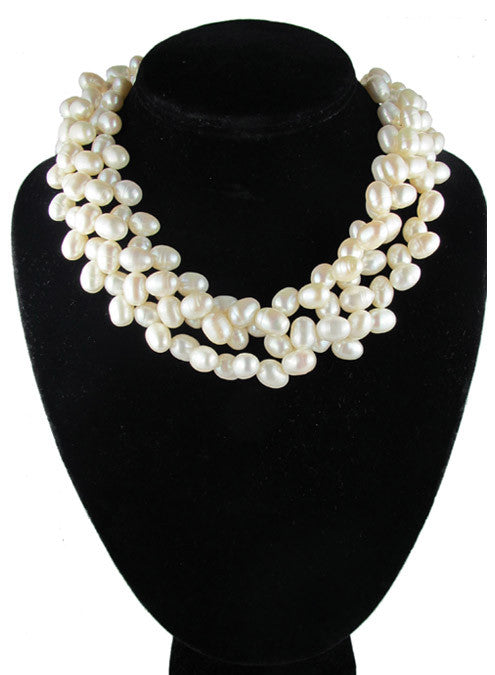 womens white pearl eleanor necklace katie bartels