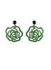 womens green and black emma earrings katie bartels