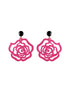 womens hot pink and black emma earrings katie bartels