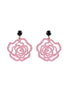 womens light pink and black emma earrings katie bartels