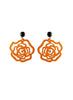 womens orange and black emma earrings katie bartels