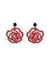 womens red and black emma earrings katie bartels