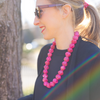 womens fuchsia pink chunk necklace katie bartels