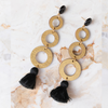 handmade womens gold open circle drop earrings katie bartels