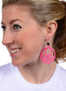 womens hot pink and black hannah earrings katie bartels