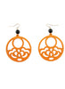 womens orange and black hannah earrings katie bartels
