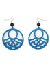 womens blue and black hannah earrings katie bartels