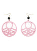womens light pink and black hannah earrings katie bartels