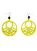 womens yellow and black hannah earrings katie bartels