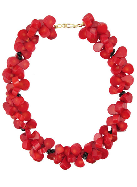 womens red coral hyannis necklace katie bartels