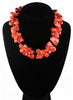 womens peach coral hyannis necklace katie bartels