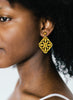 womens yellow isa earrings katie bartels