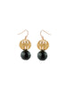womens black and gold jaipur earrings katie bartels