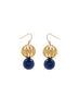 womens blue and gold jaipur earrings katie bartels