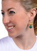 womens green and gold jaipur earrings katie bartels