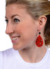 womens red and black janna earrings katie bartels