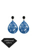 womens blue and black janna earrings katie bartels