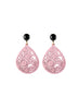 womens light pink and black janna earrings katie bartels