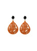 womens orange and black janna earrings katie bartels