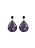 womens purple and black janna earrings katie bartels