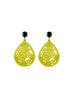womens yellow and black janna earrings katie bartels