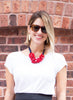 womens red and navy jess necklace katie bartels