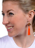 womens orange and brass johari earrings katie bartels