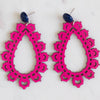 handmade womens pink tear drop earrings katie bartels