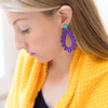 handmade womens purple tear drop earrings katie bartels