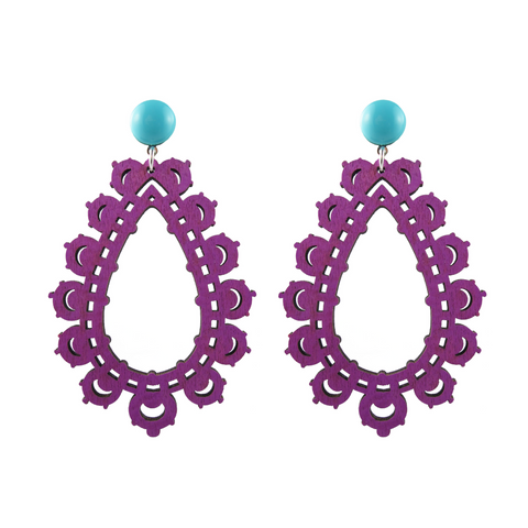 handmade designer womens purple krina earrings katie bartels