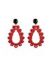 womens red and onyx clip-on krina earrings katie bartels