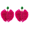 handmade designer womens pink palm earrings katie bartels