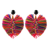 handmade designer womens multicolor palm earrings katie bartels
