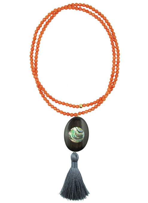 womens coral libby necklace katie bartels