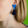 laser cut lobster and tassel earrings katie bartels