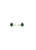 womens green malachite and silver maisie earrings katie bartels