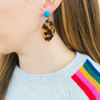 handmade womens tortoise shell marquise earrings katie bartels